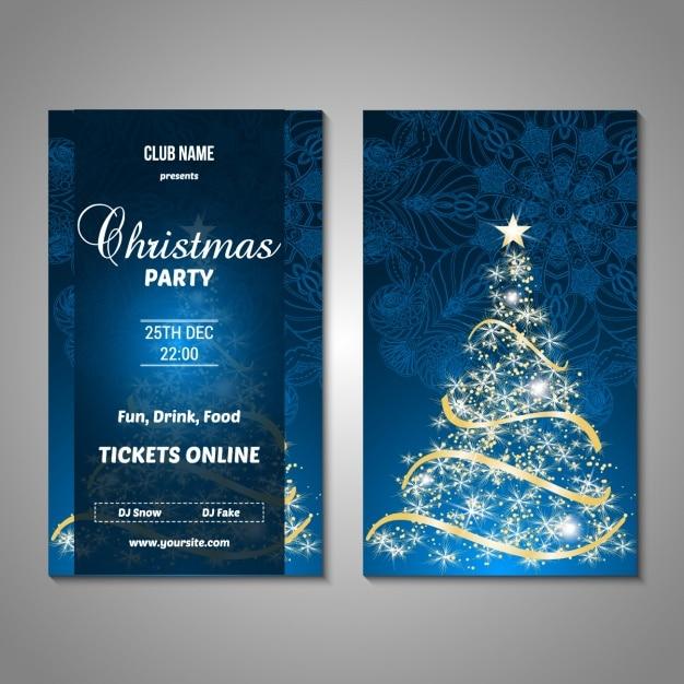 Projeto do partido Poster do Natal Vetor grátis