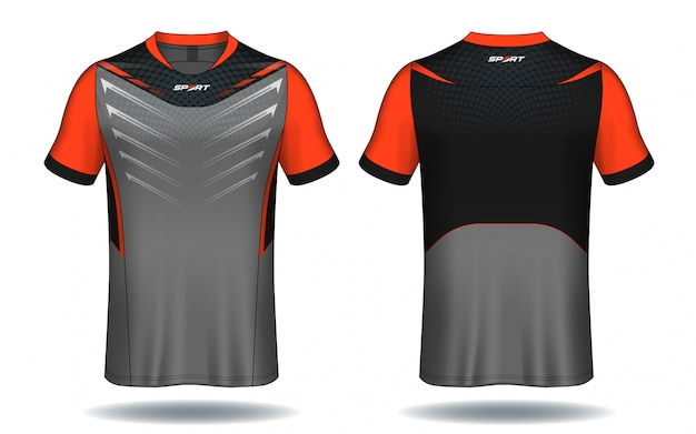 Projeto do t-shirt do esporte do jérsei de futebol. Vetor Premium
