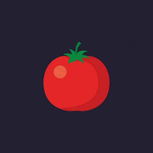 Projeto do tomate colorido Vetor grátis