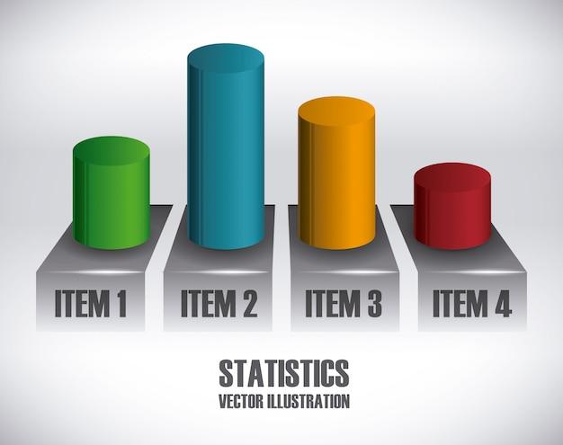 Projeto estatístico Vetor Premium