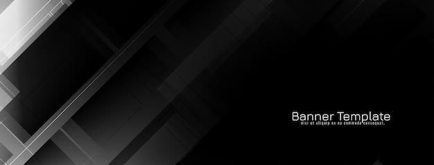 Projeto geométrico abstrato da bandeira da cor preta Vetor grátis