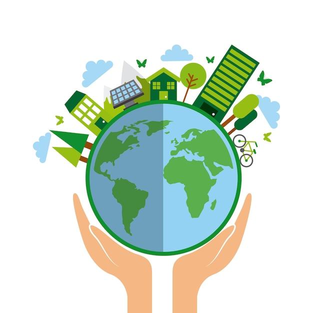 Projeto idéia verde Vetor Premium