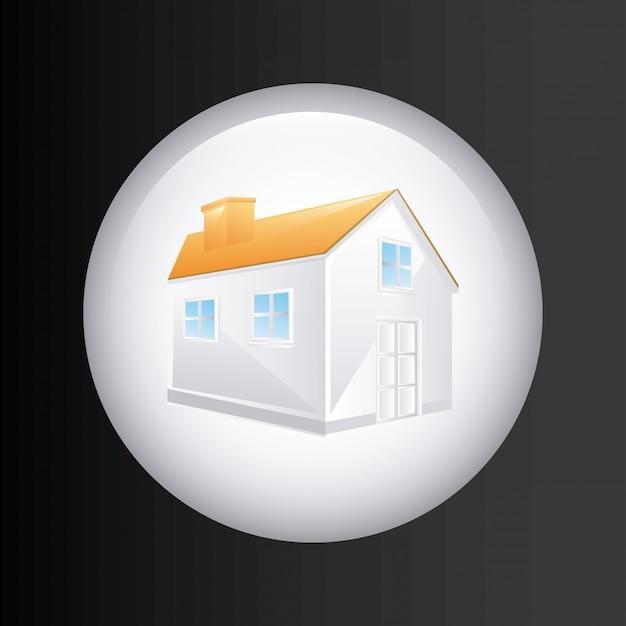Projeto imobiliário sobre ilustração vetorial de fundo cinza Vetor Premium