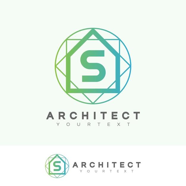 Projeto inicial do logotipo da letra s do arquiteto Vetor Premium