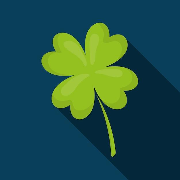Projeto irlandês afortunado da folha do trevo. Vetor Premium