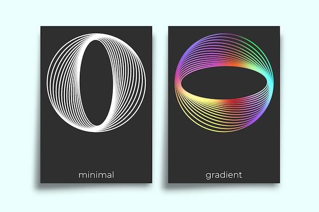Projeto mínimo de textura gradiente geométrica abstrata para segundo plano Vetor Premium