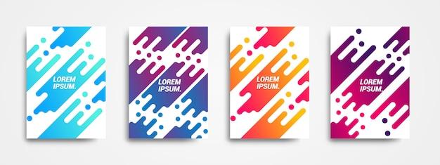 Projeto moderno do fundo com forma dinâmica e inclinações coloridos. Vetor Premium