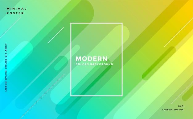 Projeto moderno do fundo das cores amarelo azul brilhante Vetor grátis