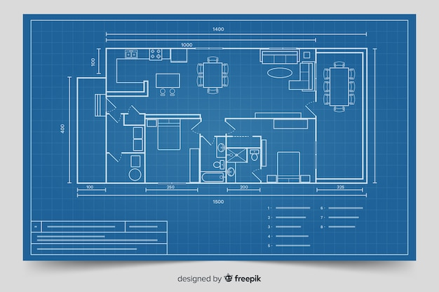 Projeto moderno para projeto de casa Vetor grátis