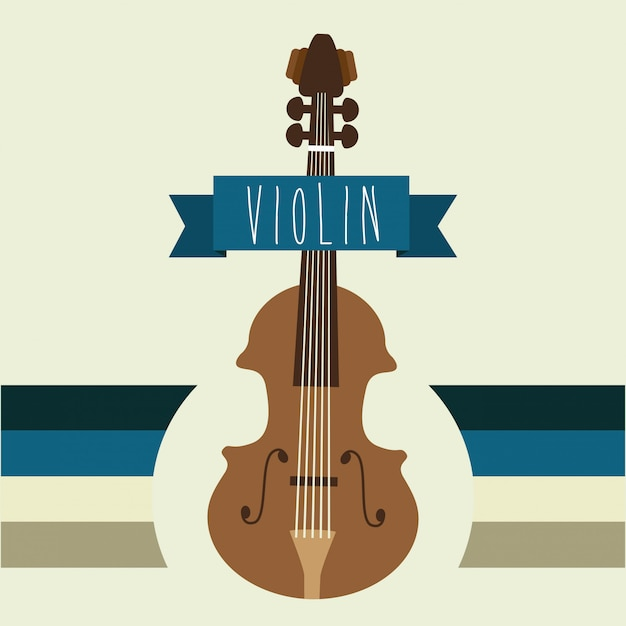 Projeto musical sobre ilustração vetorial de fundo bege Vetor Premium