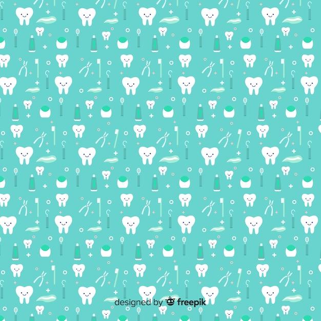 Projeto padrão sem emenda para clínica odontológica Vetor grátis