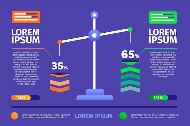 Projeto plano de infográficos de equilíbrio Vetor grátis