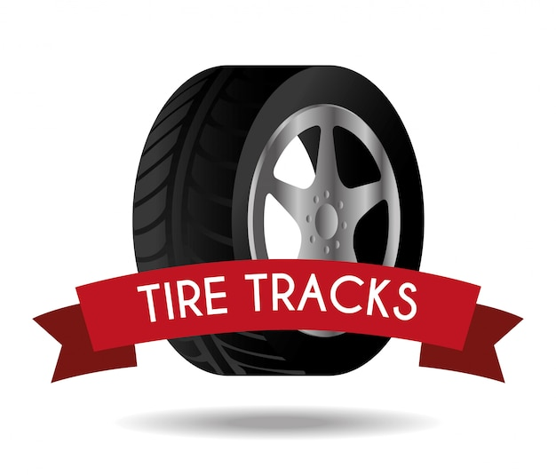 Projeto pneu Vetor Premium