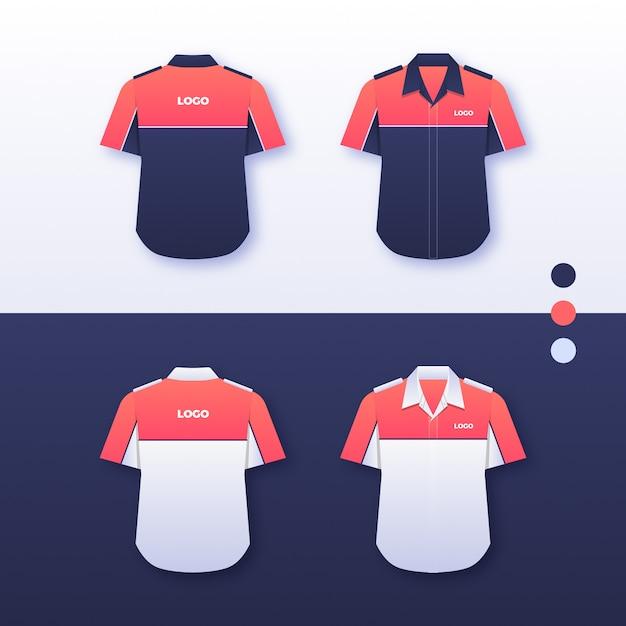 Projeto uniforme da camisa da empresa Vetor Premium