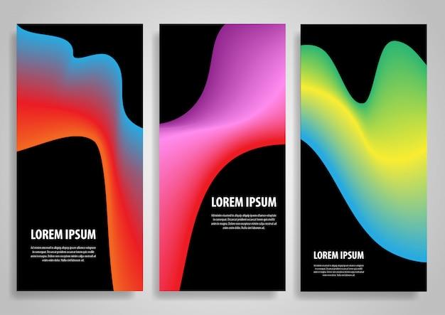 Projetos abstratos de banner gradiente Vetor grátis