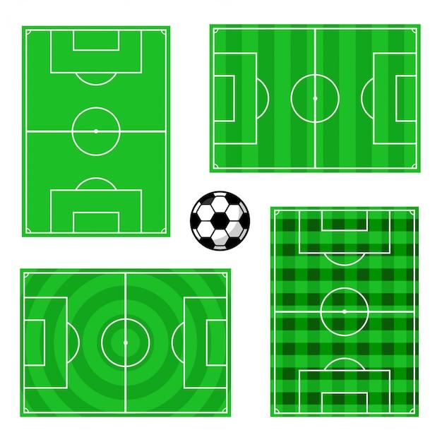 Projetos de campo de futebol Vetor Premium