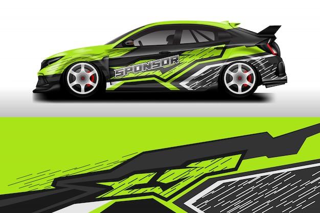 Projetos de envoltório de carro. Vetor Premium