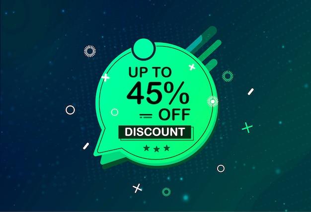 Promoção de forma de promoção de grande oferta de banner de venda especial Vetor Premium