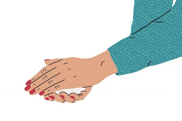 Promoção de higiene. lavar as mãos com sabão para evitar a ilustração de vírus e bactérias. Vetor Premium