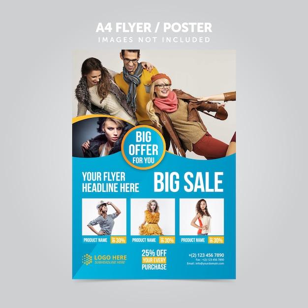 Promoção de produtos folheto a4 folheto promocional Vetor Premium