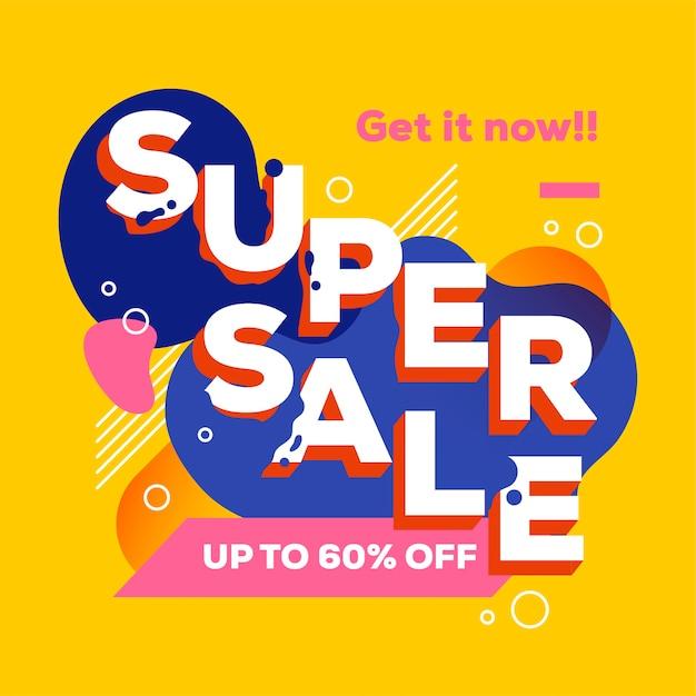 Promoção de venda super abstrata Vetor grátis