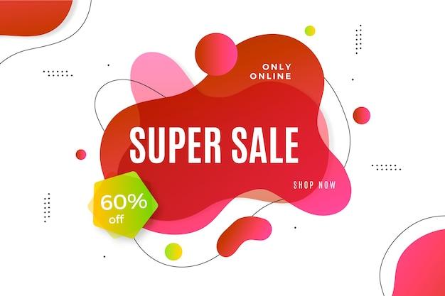 Promoção de vendas abstrata colorida Vetor grátis