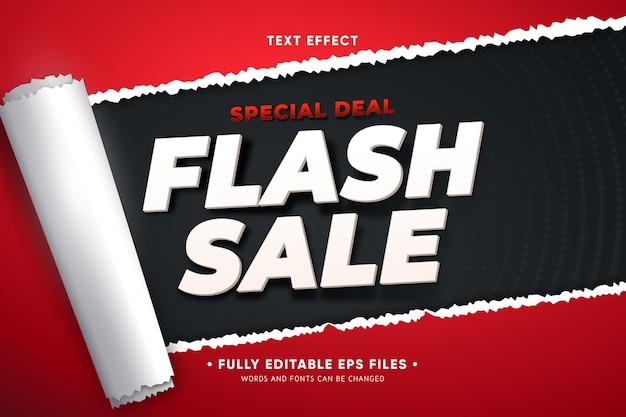 Promoção de vendas com papel rasgado Vetor grátis