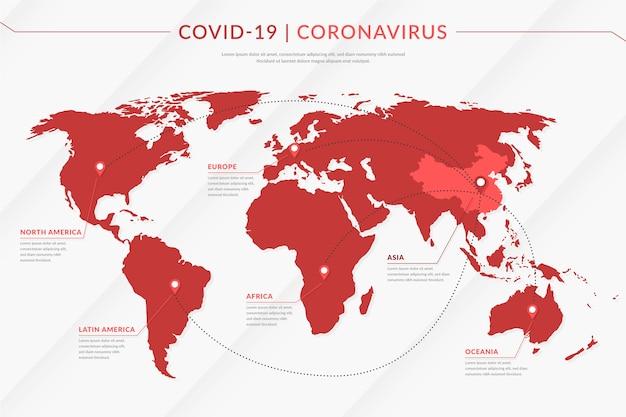 Propagação de mapa de coronavírus Vetor grátis