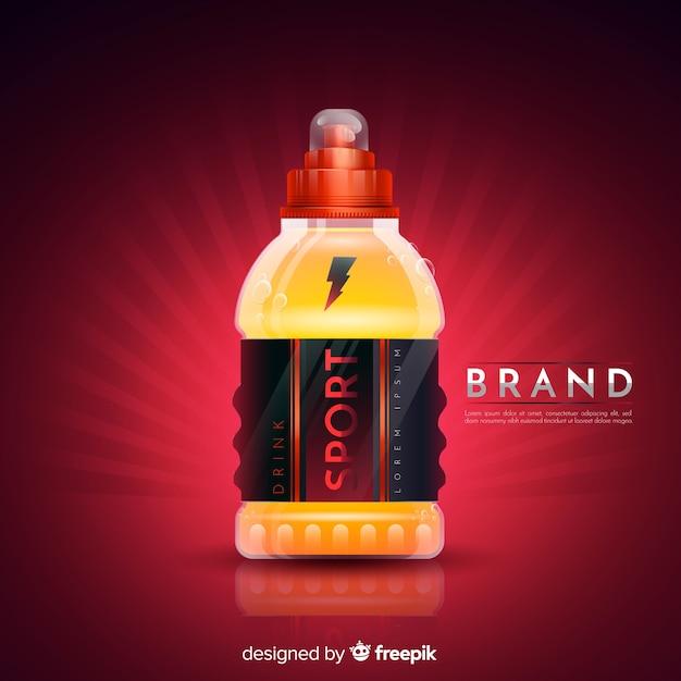Propaganda de bebida de esporte com design realista Vetor grátis