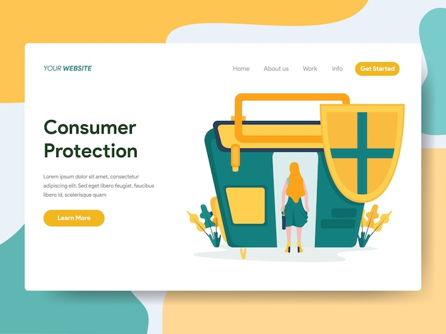 Proteção ao consumidor para a página do site Vetor Premium