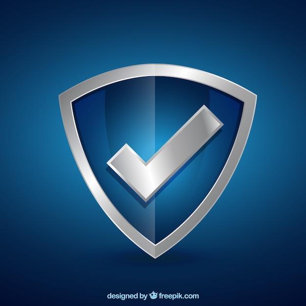 Protetor com marca de verificação Vetor grátis