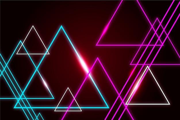 Protetor de tela de formas geométricas luzes de neon Vetor grátis