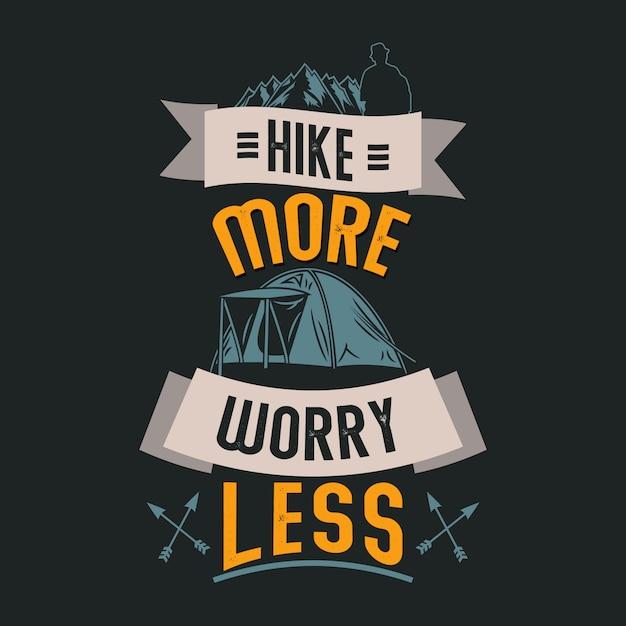 Provérbios e citações de acampamento. haking provérbios e citações Vetor Premium