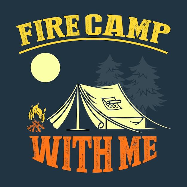 Provérbios e citações do acampamento Vetor Premium