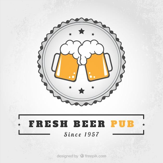 Pub cerveja fresca Vetor grátis