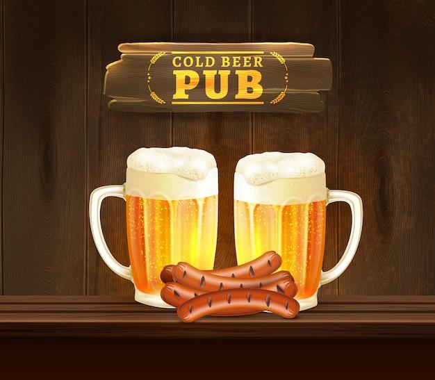 Pub de cerveja Vetor grátis