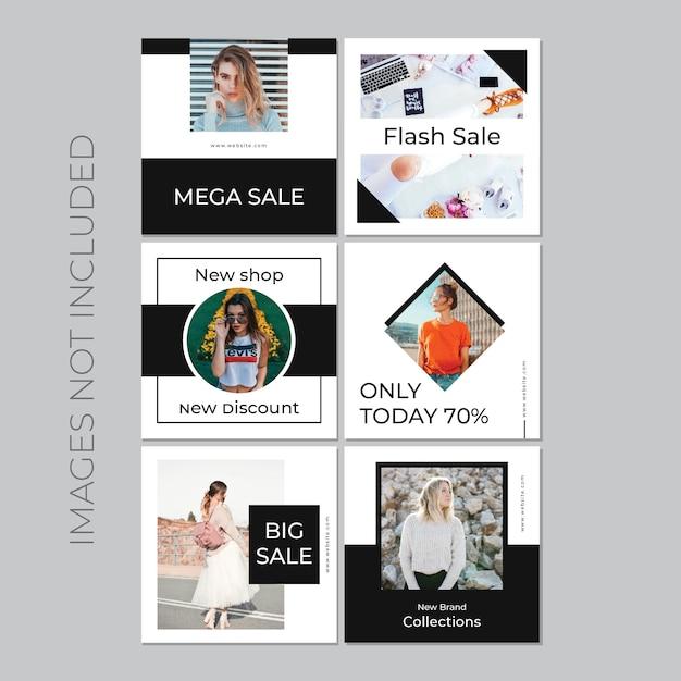 Publicação de mídia social para marketing digital Vetor grátis