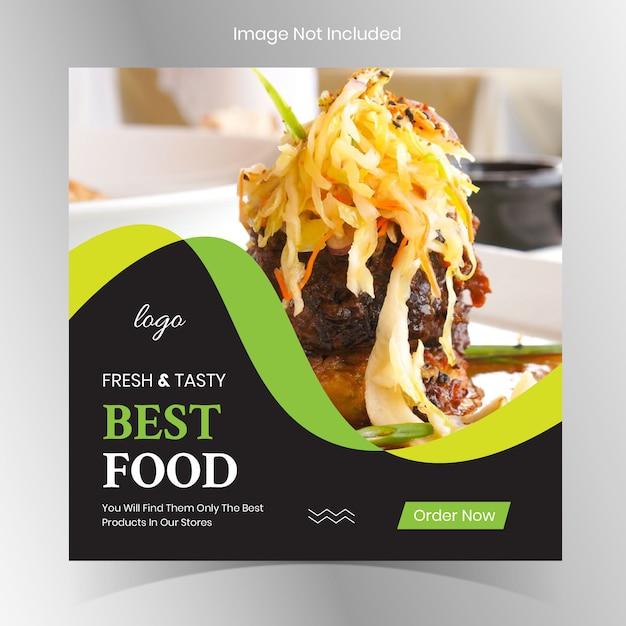 Publicações de restaurantes de comida do instagram Vetor Premium