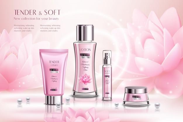 Publicidade de produtos cosméticos Vetor grátis