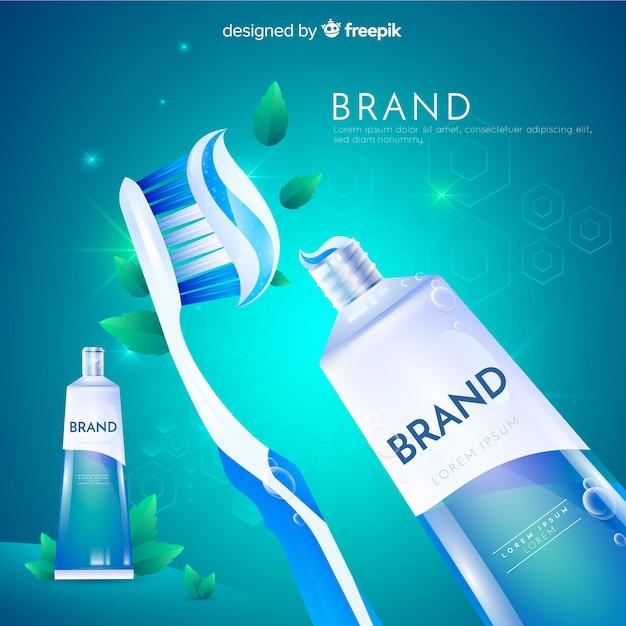 Publicidade dentífrica Vetor grátis