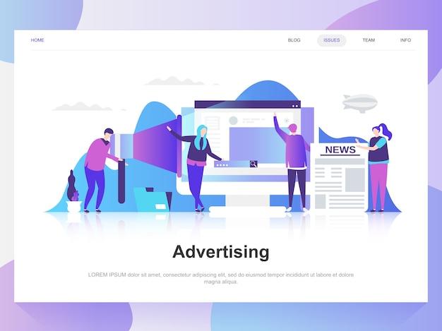 Publicidade e promo conceito moderno design plano. Vetor Premium