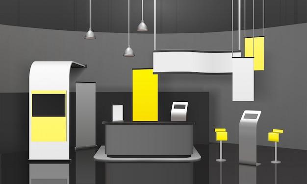 Publicidade exposição stand 3d mockup Vetor grátis