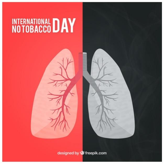 Pulmões fumante fundo Vetor grátis