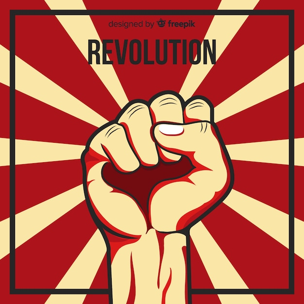 Punho levantado para a revolução Vetor grátis
