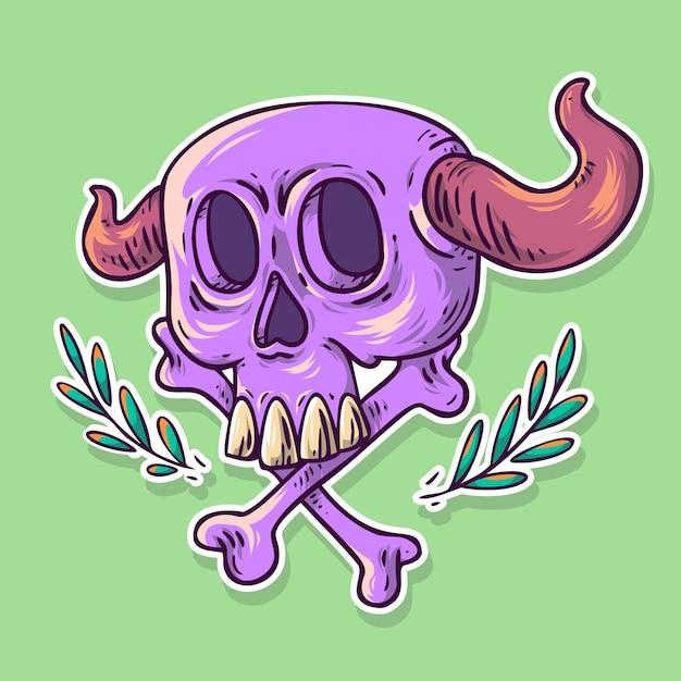 Purple devil Vetor Premium