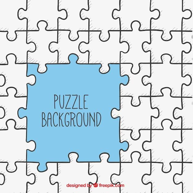 Puzzle background Vetor grátis