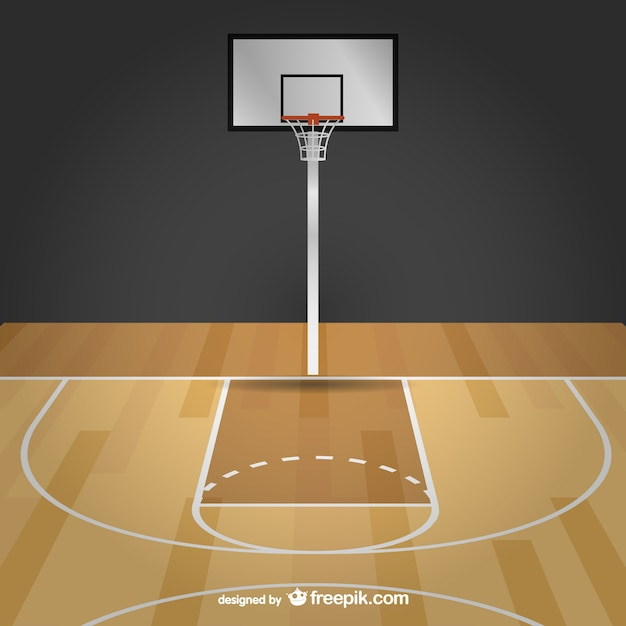 Quadra de basquete vetor livre baixar vetores gr tis for Building indoor basketball court