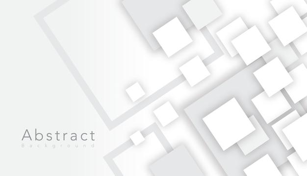 Quadrado abstrato branco elegante Vetor grátis