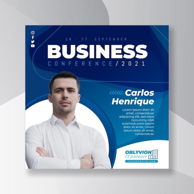 Quadrado de panfleto comercial geral Vetor Premium