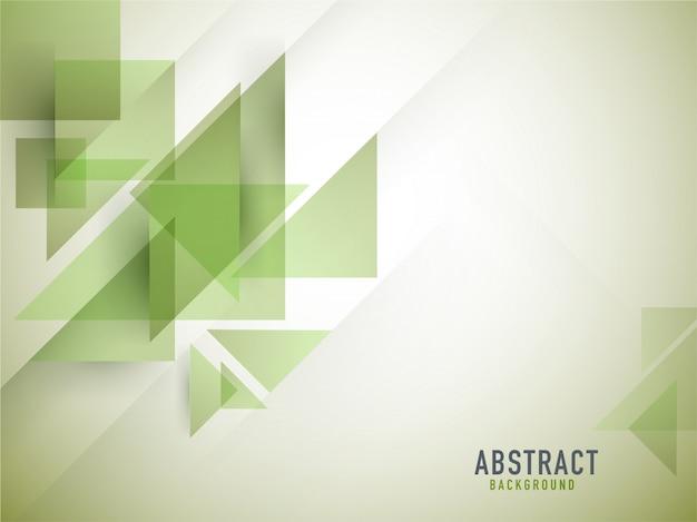 Quadrado geométrico abstrato verde e triângulo de fundo. Vetor Premium